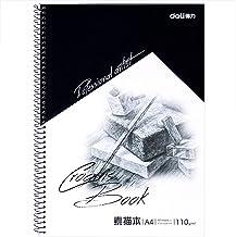 deli Spiral Bound Hardcover Sketchbook, Portable Art Supplies, A4, 40 Sheets