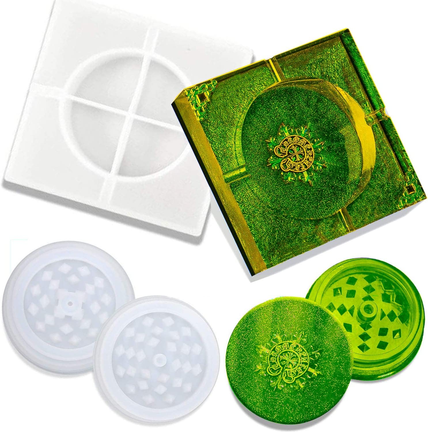 35% OFF Finally popular brand Silicone Resin Mold Molds Grinder Ashtray
