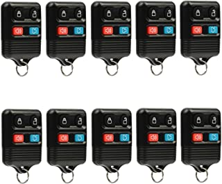 Car Key Fob Keyless Entry Remote fits Ford, Lincoln, Mercury, Mazda (CWTWB1U331 GQ43VT11T CWTWB1U345 4-btn), Bulk Lot of 10