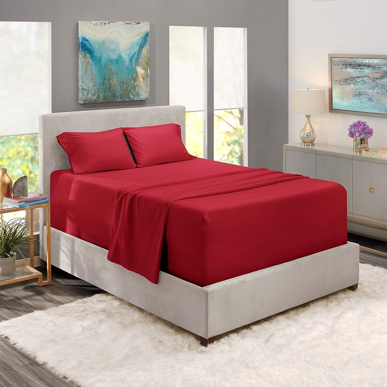PIMA Cotton 4-PCs Sheet Bed Department store Cool Extra-Long Brea Elegant Set Staple