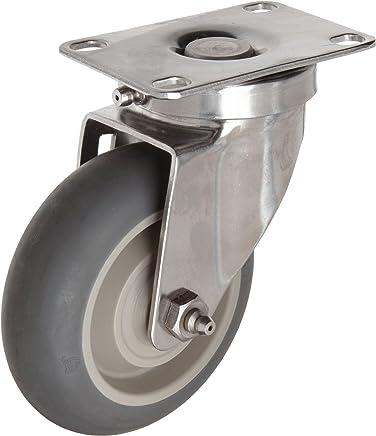 Expanding Adapter Stem Zinc Finish Shepherd Regent Series 5 Diameter Precision Bearing Monotech Wheel Swivel Caster Fits 1-5//8-1-11//16 Round Tube Diameter 160 lbs Capacity