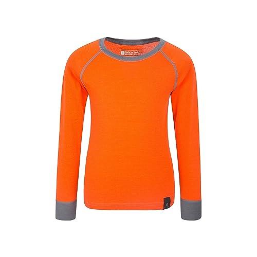 569fc655801 Mountain Warehouse Merino Kids Round Neck Baselayer Top – Full Sleeves,  Warm Sweater, Light
