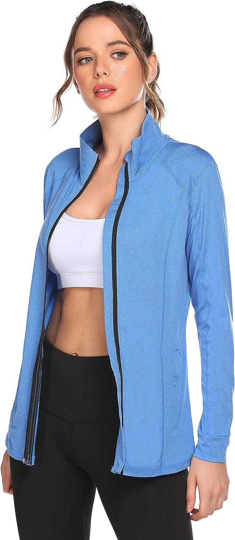 ELESOL Track Jacket Purchase Women Full Zip Athletic Runni Workout Nashville-Davidson Mall