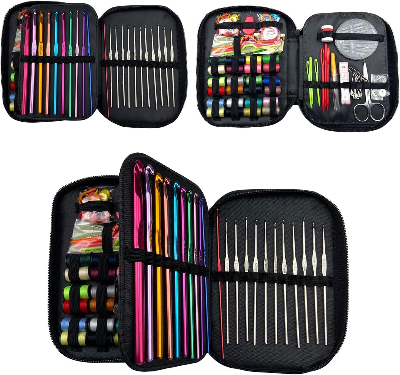 High material Weabetfu 121PCS Crochet Hooks High material Kit Aluminum Hook Sewing