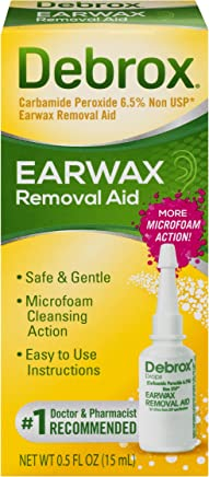 Debrox Earwax Removal Aid Drops   Safely and Gently Cleanses Ear   0.5 FL OZ