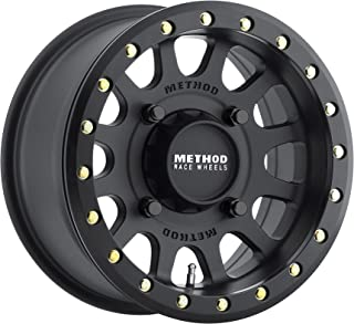 Method Race Wheels MR401 Matte Black Wheel with Grade 8 Beadlock Bolts (14x7