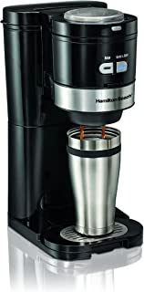 Hamilton Beach Coffee Maker, Grind and Brew Single Serve, Black (49989)