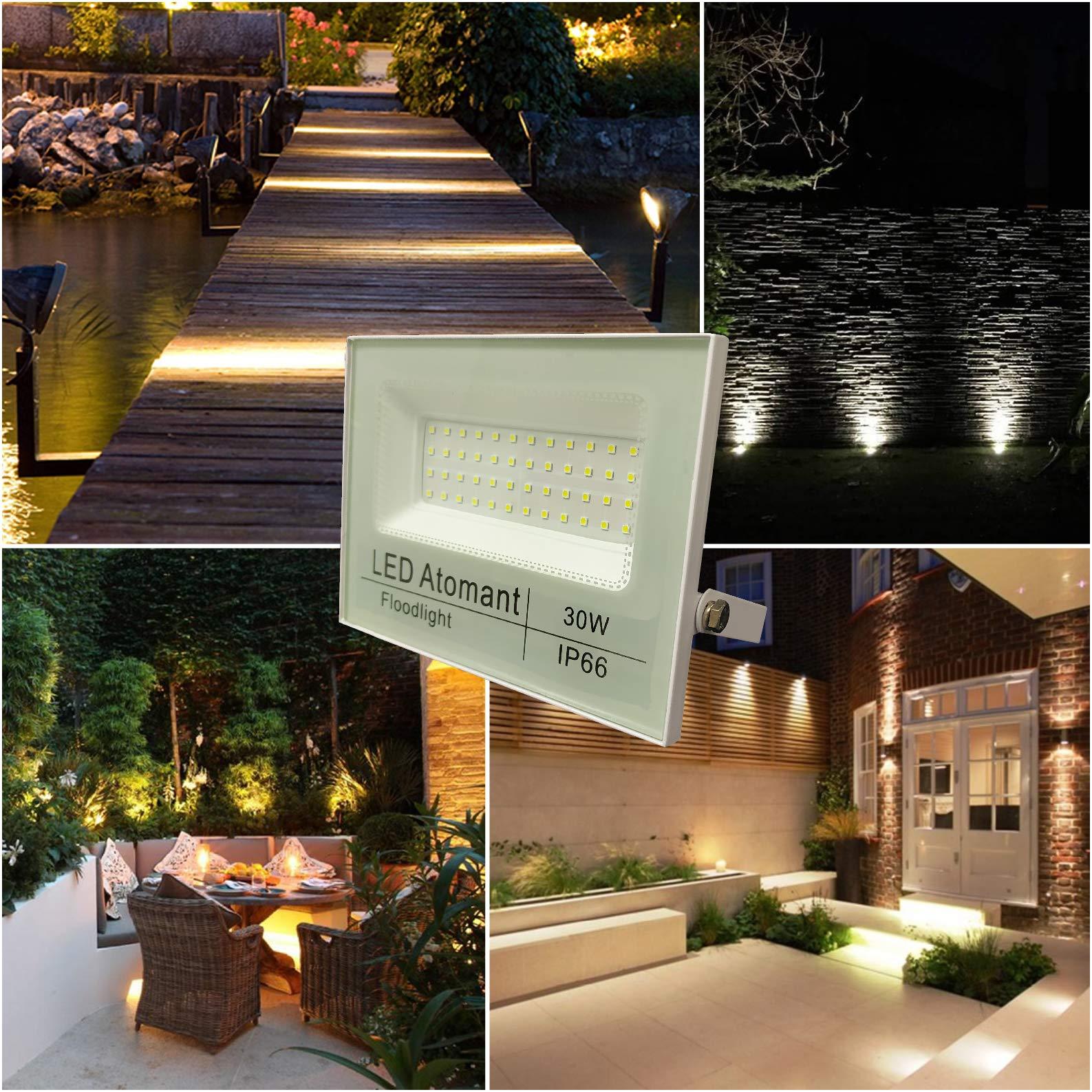 L/ámpara de Trabajo Recargable,DINOWIN 30W Impermeable IP65 Foco LED Proyector Iluminacion Exterior del Jard/ín al Aire Libre Patio Terraza Pescado,Camping Luz Protector Port/átil luz blanca