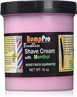 Bump Pro Brushless Shave Cream, Menthol