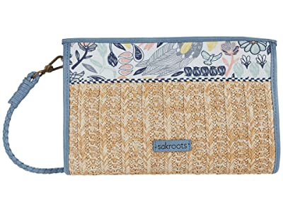 Sakroots Roma Mini Straw Crossbody (Multi Peace Birds) Cross Body Handbags