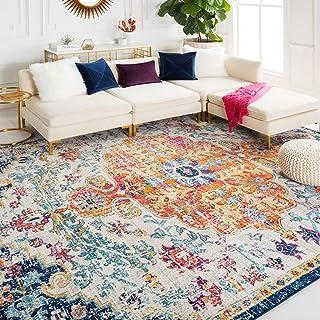 "Bodrum 3' 11"" x 5' 7"" Moroccan Bohemian Updated Traditional - Oriental Area Rug - Rectangle - Polypropylene - Saffron, Lig..."