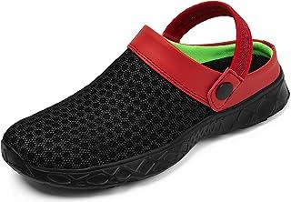 katliu Unisex Breathable Lightweight Mesh Slippers Garden Clogs Sandals for Beach Pool