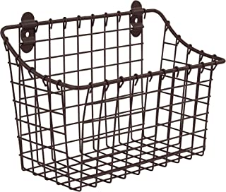 Spectrum Diversified Vintage Large Cabinet & Wall-Mounted Basket for Storage &..