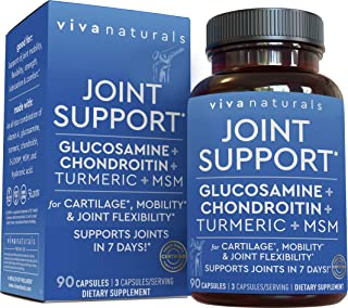 Glucosamine Chondroitin with Turmeric, MSM Boswellia & Hyaluronic Acid (90 Capsules) - Triple Strength Joint Supplements f...