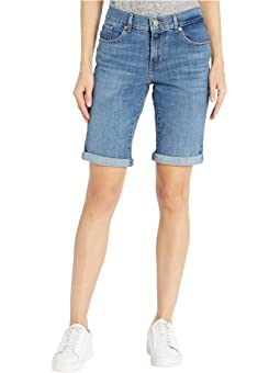 Tribal Womens Distressed Short with Roll Cuff