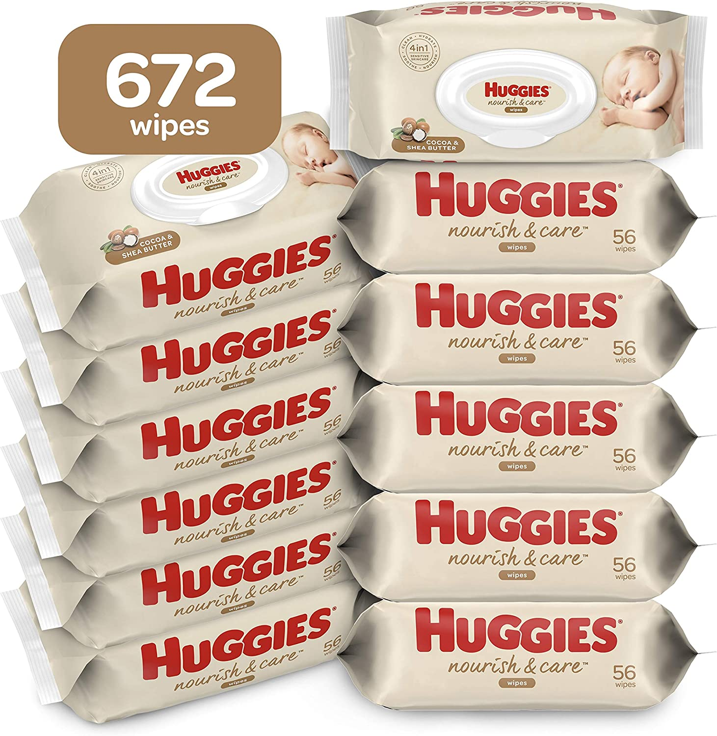 Baby Wipes Scented Huggies Max 57% OFF Care Nourish Shipping included 1 Diaper