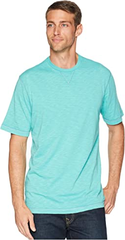 Heritage Slub Classic Fit Pigment Dyed Short Sleeve Knit Crew with Contrast Coverstitch