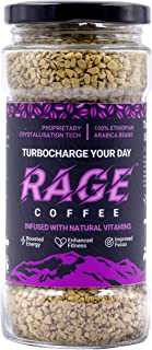 Rage Coffee - Premium 100% Ethiopian Arabica Instant Coffee Crystals Infused with Natural Vitamins - 100 GMS