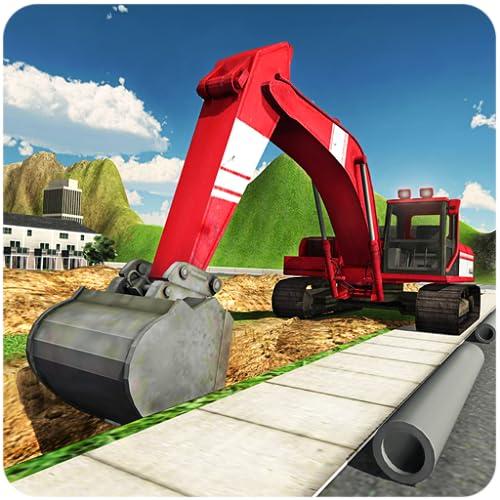Pesada grúa excavadora 3D Simulator 2016