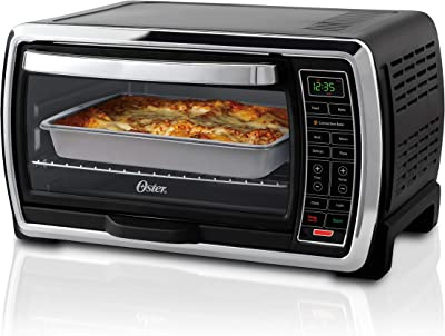 Oster Toaster Oven   Digital Convection Oven, Large 6-Slice Capacity, Black/Polished Stainless