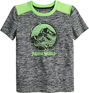 Jumping Beans Boys 4-12 Jurassic Green Logo Active Graphic Tee