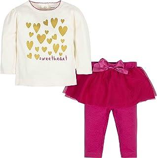 Gerber Girls' Toddler Shirt and Tutu Legging Set