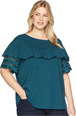 Plus Size Brynlee Lace Trim Tee