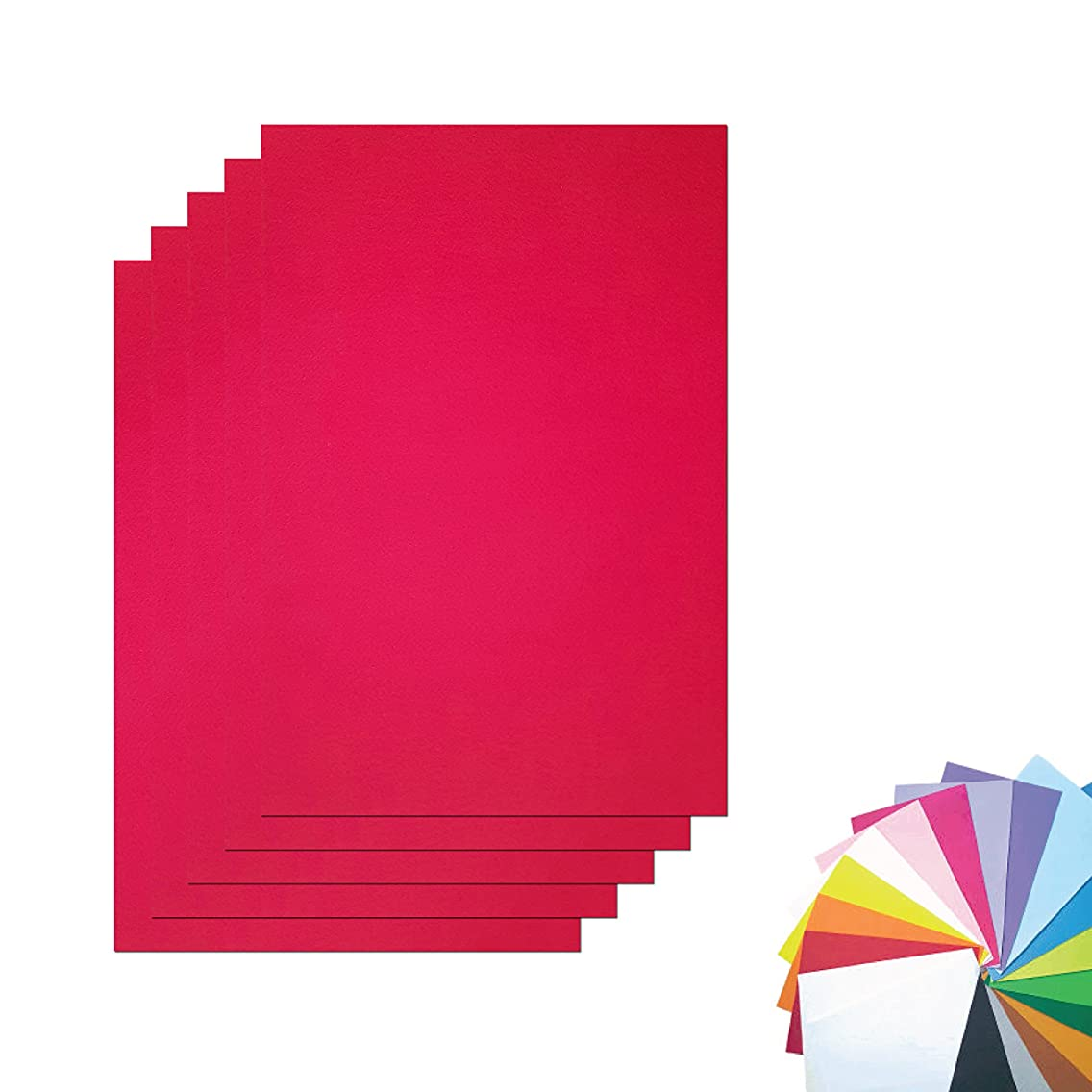 DIY Stiff Felt(Hard Felt) Fabric Squares Sheets Red Color 30cm X 45cm inch for Crafts,1.2mm Thick-Red Color of 5sheets