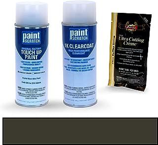 PAINTSCRATCH Crystal Black Silica Pearl D4S for 2016 Subaru Crosstrek - Touch Up Paint Spray Can Kit - Original Factory OEM Automotive Paint - Color Match Guaranteed