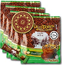 (5-Pack - Hazelnut) OLD TOWN (3 in 1) Hazelnut White Coffee Asian Instant Coffee Coffee Lover Package with a Eco Friendly ...