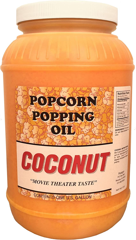 Coconut Popcorn New popularity Max 60% OFF Popping Gallon Oil