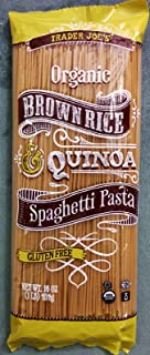 Trader Joe's Brown Rice & Quinoa Spaghetti Pasta 16 Oz (pack of 2)