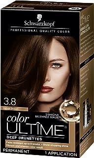 Schwarzkopf Color Ultime Hair Color Cream, 3.8 Velvet Brown (Packaging May Vary)