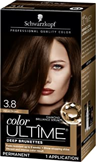Schwarzkopf Color Ultime Hair Color Cream, 3.8 Velvet Brown, 1 Count (Packaging May Vary)