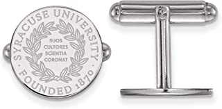 Solid 925 Sterling Silver with Gold-Toned Texas State University Cuff Link 15mm x 15mm