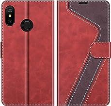 MOBESV Funda para Xiaomi Mi A2 Lite, Funda Libro Xiaomi Mi A2 Lite, Funda Móvil Xiaomi Mi A2 Lite Magnético Carcasa para Xiaomi Mi A2 Lite Funda con Tapa, Rojo
