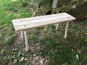 Sonder: Ein Tisch und eine Bank, breite Ausführung, 95cm
