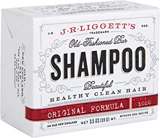 J·R·LIGGETT'S All-Natural Shampoo Bar, Original Formula - Supports Strong and Healthy Hair - Nourish Follicles with Antioxidants and Vitamins - Detergent and Sulfate-Free, One, 3.5 Ounce Bar