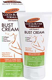 Palmer's Cocoa Butter Formula Bust Cream With Vitamin E, 4.4-Ounce Tubes (Pack of 3)
