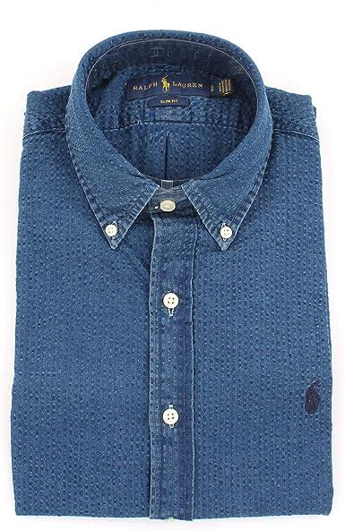 Polo Ralph Lauren Camiseta Custom Slim Fit con Cuello de Pico