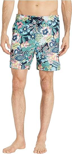 0e4e931fde Original penguin leaf print fixed volley swim shorts | Shipped Free ...
