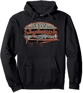 C172 Skyhawk Vintage Retro Airplane Flying Pilot Hoodie