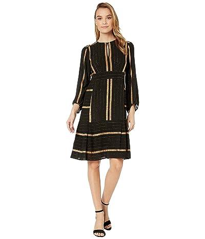 Nanette Lepore Boho Stripe Dress (Gold Multi) Women