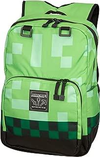"JINX Minecraft Creeper Kids School Backpack, Green, 18"""