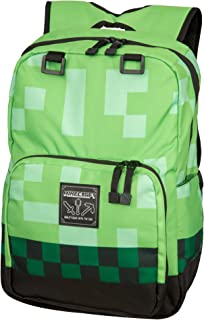 JINX Minecraft 18 Creeper Kids Backpack - Green