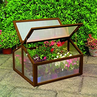 "Gardman 7650 Large Wooden Cold Frame, FSC Certified Timber Frame, 35"" Long x 31"" Wide x 35"" High"