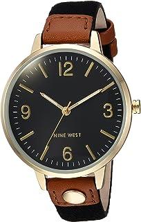Nine West NW2114BKBK Reloj Análogo para Mujer, color Negro