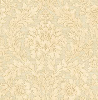 Floral Vintage Wallpaper Damask Victorian Sand Nude Cream Arts and Crafts