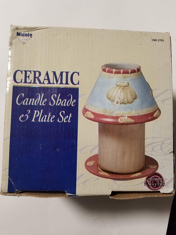 NICOLE CERAMIC CANDLE Popular overseas SHADE SET High order PLATE