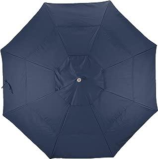 California Umbrella Replacement Canopy Cover in Navy Blue Olefin Umbrella, 11' Round